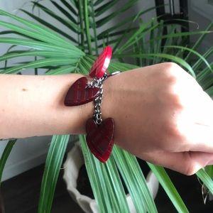 Burberry + Heart Chain Bracelet